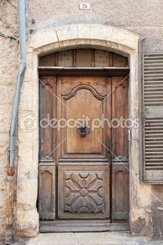 old french windows and doors | Old French door — Stock Photo © Ivonne Wierink #5676663