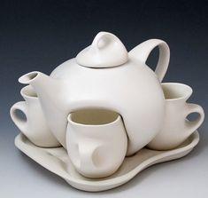 Creative tea cups and pot set!