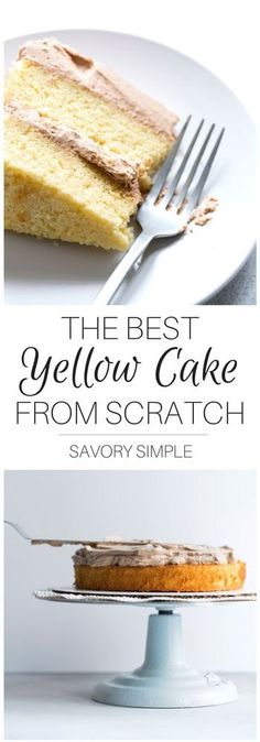 You don't need to buy boxed cake mix! This yellow cake recipe is easy to prepare at home, and it tastes SO MUCH BETTER. It's soft and moist, with a delicate crumb and the perfect level of sweetness. Use it with your favorite frosting recipe!