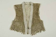 Knitted paper vest, Japan, late Edo period. Atopos Collection.