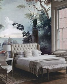 Creative Wall Mural #mural #wallmural #bedroom #interior #interiors…
