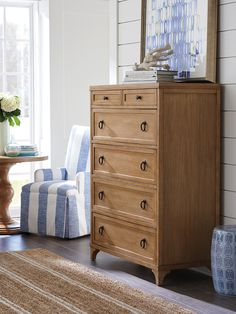 Goldenrod Chest | Lexington Home Brands Design A Space, Lexington Home, Coastal Living, Traditional Design, Home Furnishings, Drawers, Blue And White, Inspiration, Furniture