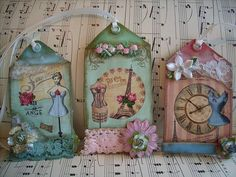 french,paris,corset,shabby,cottage,altered art,ooak,2 sided ,hang tags | Flickr - Photo Sharing!
