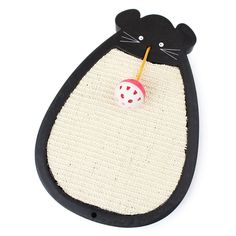 Suicazon Cat Scratching Pad with Ball Toy Mouse-shaped Natural Sisal >>> Don't get left behind, see this great cat product : Cat scratcher