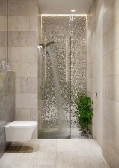 ▷ 1001 + Ideas for a Zen bathroom decor + bathroom - small bathroom decoration, natural bathroom, Italian shower with a wall covered with bright shiny particles, discreet lighting