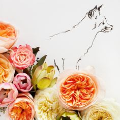 3D and drawing combined- very pretty-No. 9889 fox and flower 12 x 12. $80.00, via Etsy.