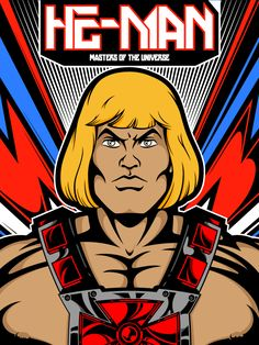 He-Man from Masters of the Universe by Salvador Anguiano, via Behance