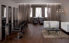 Maletti Classic Collection consists of Maletti Paloma Salon Chairs, Maletti Deco Waiting Lounge, Maletti Revenge Shampoo Basins and Maletti Igor Salon Workstations