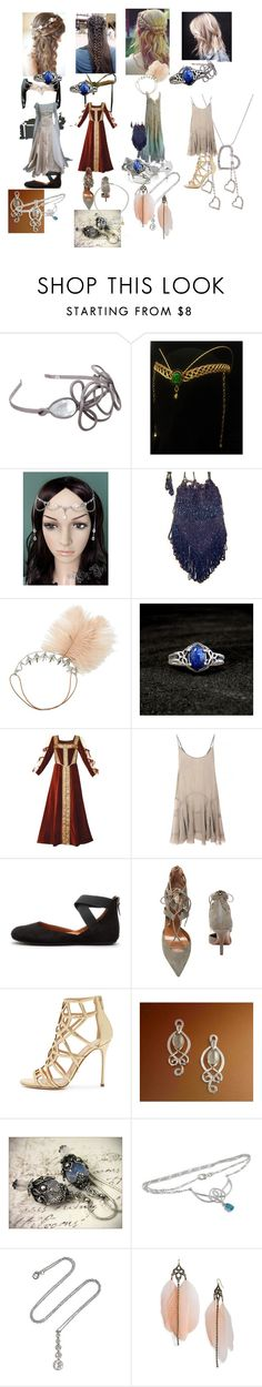 """""""1200-2010"""" by hyuna-newmoon ❤ liked on Polyvore featuring Jane Tran, Charlotte Russe, Gentle Souls, Aquazzura, Sergio Rossi, Van Cleef & Arpels and Stephan & Co."""