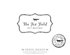 Custom PreDesigned / Hand Drawn Fox logo design and by IndieGrace, $48.00