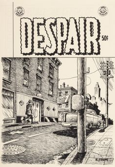 Robert Crumb (b. 1943). Despair, unpublished cover, circa 1970. Ink on paper. click to enlarge