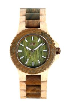 Look at this awesome wooden watch!  $119