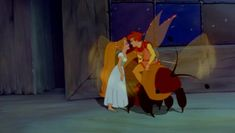 Don Bluth´s Thumbelina (1994): The tiny girl meets a fairy prince who saves her from the creatures of the woods. Description from pinterest.com. I searched for this on bing.com/images