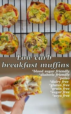 The Big Diabetes Lie Recipes-Diet Low-carb, blood sugar friendly breakfast muffin recipe. This is free from any nasty additives and will keep you full until lunch! The Big Diabetes Lie Recipes-Diet Low Sugar Recipes, Diabetic Recipes, Cooking Recipes, Keto Recipes, Low Sugar Meals, Diabetic Breakfast Recipes, Lunch Recipes, Low Sugar Breakfasts, Breakfast Ideas For Diabetics