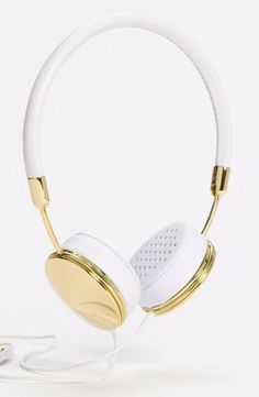 Have you ever wanted super posh gold and white headphones? You're in luck.  -A