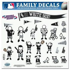 Chicago White Sox Decal 11x11 Family Sheet