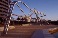 Barcelona, Spain  Parque de Diagonal Mar  Miralles Tagliabue EMBT