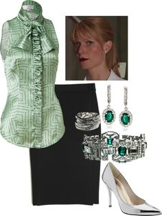"""""""Green and SIlver"""" by hpbrat2 on Polyvore"""