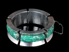 Enrique Ledesma, Mexican Silver and Stone, Mod Bracelet, Sterling, Taxco, Vintage Mod   eBay