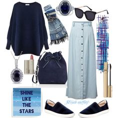 A fashion look from November 2016 featuring Paisie sweaters, Chicnova Fashion skirts and J& sneakers. Browse and shop related looks. Hijab Casual, Hijab Chic, Hijab Outfit, Casual Skirts, Muslim Fashion, Hijab Fashion, Fashion Skirts, Fashion Dolls, Modest Outfits