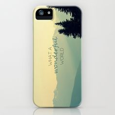 They're HERE.....What a Wonderful World iPhone & iPod Case by RDelean - $35.00