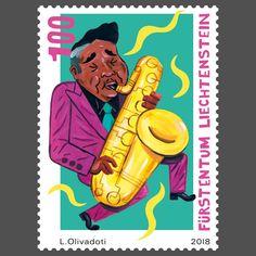 Liechtenstein 2018 - Musik zum Tanzen: Jazz Going Postal, Important People, Jazz Music, Mail Art, Stamp Collecting, Choir, Postage Stamps, Musicals, Culture