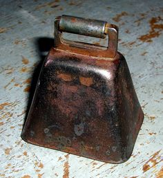 Primitive Cow Bell, Copper, Small Metal Bell. via Etsy.
