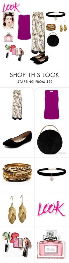 """Berry and Vine"" by chauert ❤ liked on Polyvore featuring Oasis, Ollio, Eddie Borgo, Amrita Singh, Betsey Johnson, NYX and Christian Dior"