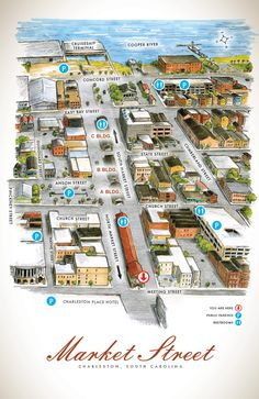 FREE Map of the Historic Charleston Market, Charleston City Market, Historic Downtown Charleston, SC