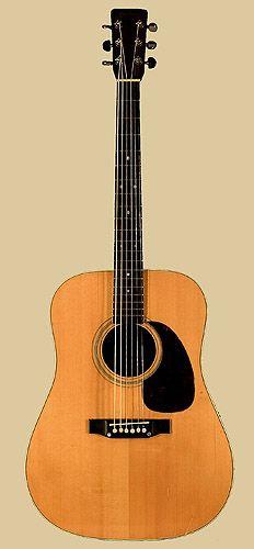 Front of Martin D-28 guitar