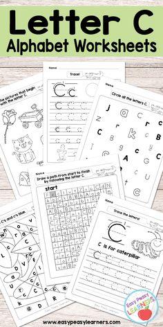 Free Printable Letter C Worksheets - Alphabet Worksheets Series
