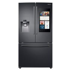Samsung 24.2 cu. ft. Family Hub French Door Refrigerator in Black Stainless Steel