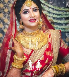 The sparkle in her eyes says it all. I wish a very happy married life to Bengali Bride, Bengali Wedding, Hindu Bride, Saree Wedding, Bengali Bridal Makeup, Indian Bridal Lehenga, Indian Wedding Couple Photography, Bridal Photography, Beautiful Indian Brides