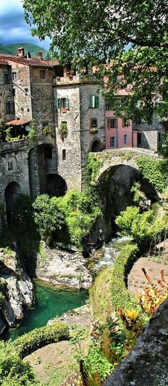 In quaint Bagnone, Italy.