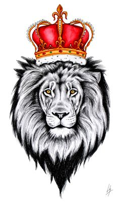 lion with crown drawing - Google Search