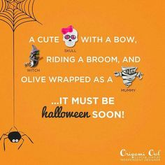 Who loves Halloween!? These great limited edition charms and more faBOOlous Halloween items available 9/1!  Shop here https://heatherkennedy.origamiowl.com Enter jewelry bar code 92083 for a special treat from me! ;)