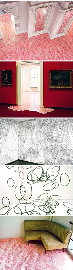 i love these installations. maybe someday i will have the patience to attempt something like this at home.