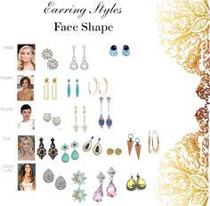 Earring Styles for your Face Shape | BonBon Break - Link to earring descriptions for each face shape.
