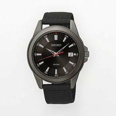 Seiko Mens Stainless Steel Black Ion Watch SGEG91 | WatchCorridor