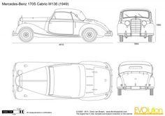 Mercedes-Benz 170S Cabrio W136 Blueprints