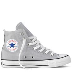 Grey Chuck Taylor Hi-Tops
