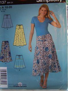 Misses' Flared Skirt Pull On Skirt  Easy Sewing by WitsEndDesign, $8.00