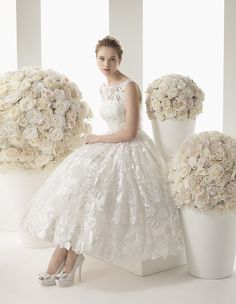 Two by Rosa Clara Wedding Dresses 2014 Bridal Collection Part I. To see more: http://www.modwedding.com/2014/01/10/two-by-rosa-clara-wedding-dresses-2014-bridal-collection/ #wedding #weddings #fashion