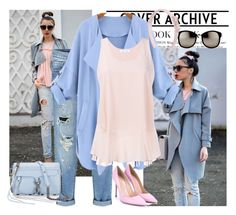 """""""Pastel Trench coat"""" by pink1princess ❤ liked on Polyvore featuring WithChic, Chloé, Gianvito Rossi, Rebecca Minkoff, Linda Farrow, Salvatore Ferragamo, women's clothing, women's fashion, women and female"""