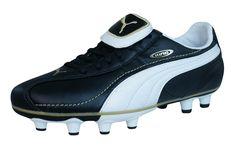 Puma King XL i FG Boys Leather Football Boots   Cleats - Black. Botines De  ... d446680a555c4