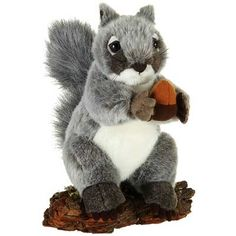 Plush Gray Squirrel with Acorn at theBIGzoo.com, a family-owned gift shop with 12,000+ animal-themed items.