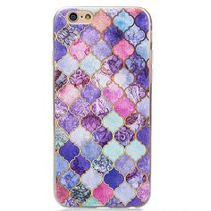 Ultra Thin 3D Marble Pattern Clear Soft TPU Cover Case For iPhone 6S / 6 Plus 5s