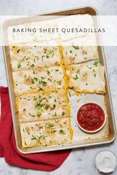 Baking Sheet Quesadillas #purewow #cheese #vegetarian #recipe #main course #easy #dinner