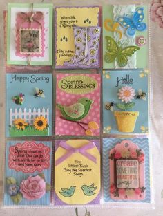 Spring happy sweet pocketletter More Pocket Pal, Pocket Cards, Pocket Scrapbooking, Scrapbook Cards, Inchies, Leaf Projects, Project Life Cards, Atc Cards, Pocket Letters