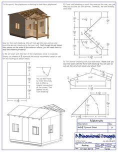 playhouse plans childs outdoor wood playhouse building plans